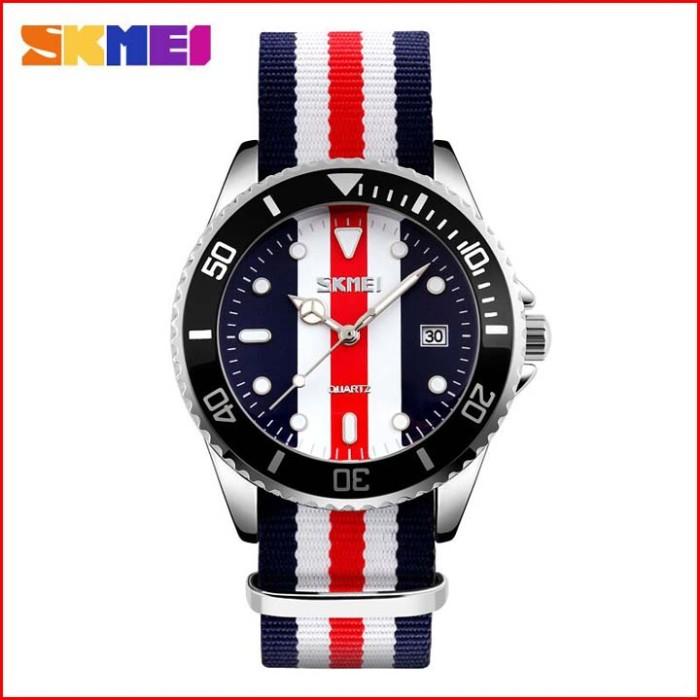 Jam tangan casual canvas skmei warna warni mirip dw water resistant