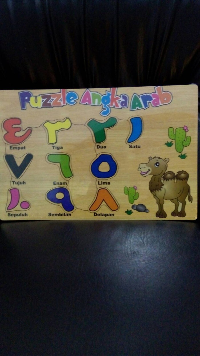 Jual Mainan Edukasi Anak Puzzle Angka Arab Stiker Grosir Sumber Idukasi