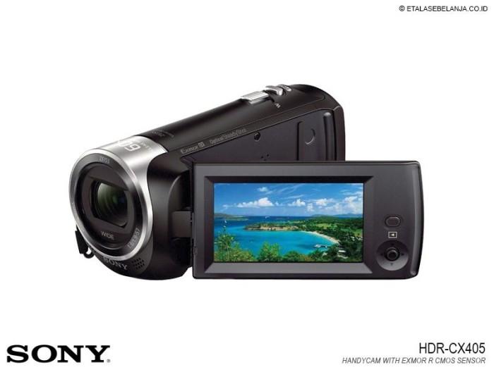 harga Fullhd handycam microsd sony hdr-cx405b - exmor technology Tokopedia.com