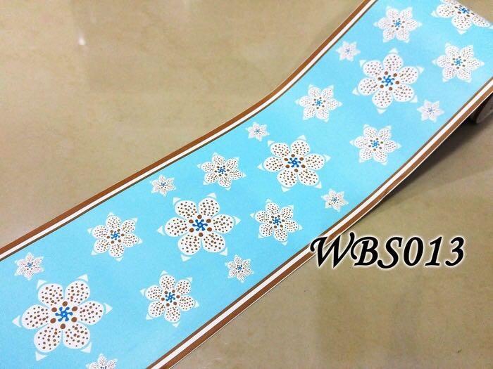 wallborder blue 10.5cm x 10m