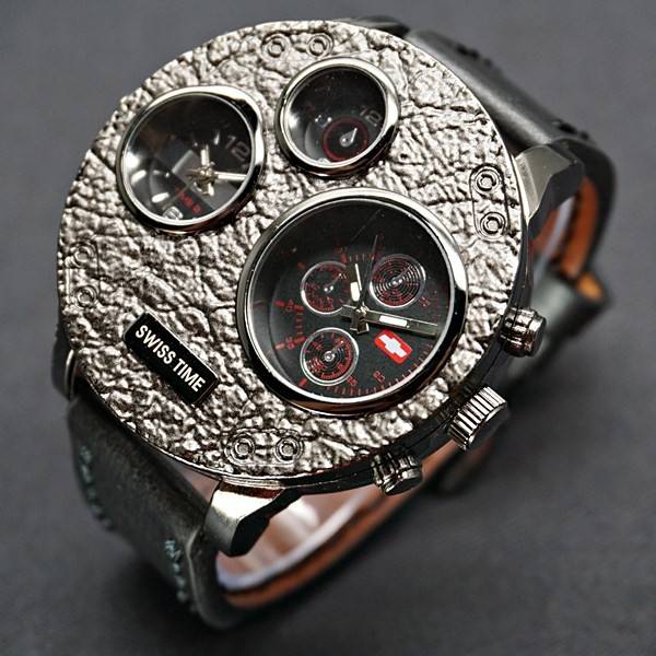 Jam Tangan Pria | Men Swiss Army Monster Leather Black