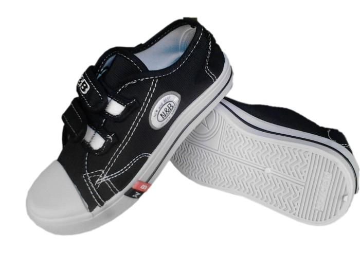 Jual Sepatu Anak Sekolah TK SD SMP NB Warna Hitam Velcro Murah Ori ... c7df6af86a