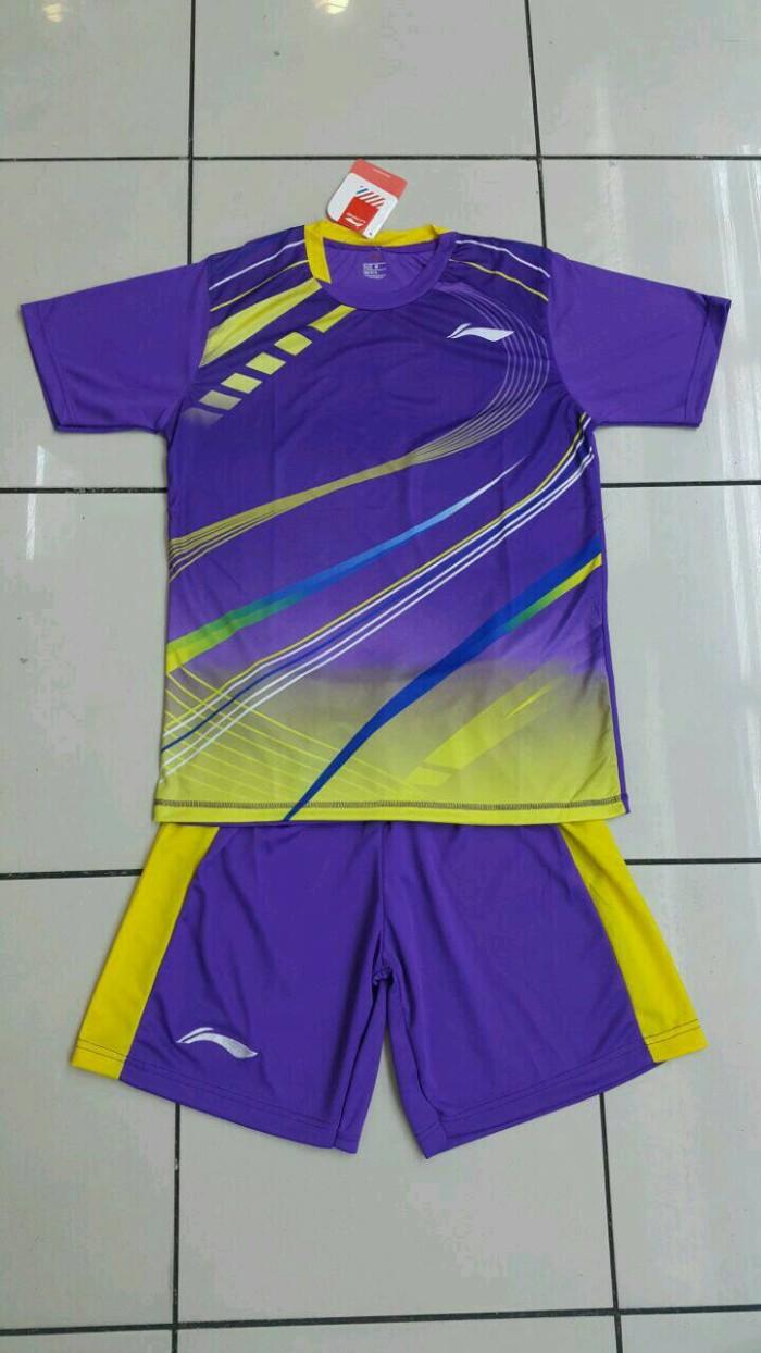 harga Baju kaos badminton stelan dewasa lining l.19 ungu Tokopedia.com