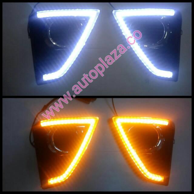 Lampu drl toyota yaris gen2 daytime running light foglamp cover yaris