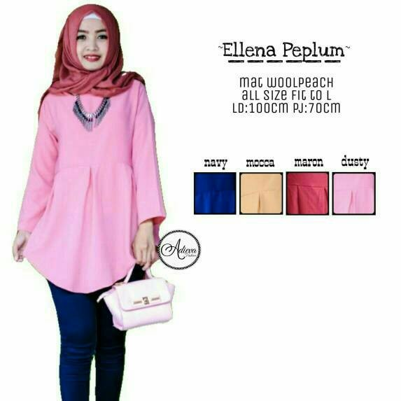 Jual elena peplum blouse dustypink - tunik - atasan wanita - baju ... 53af347dd0
