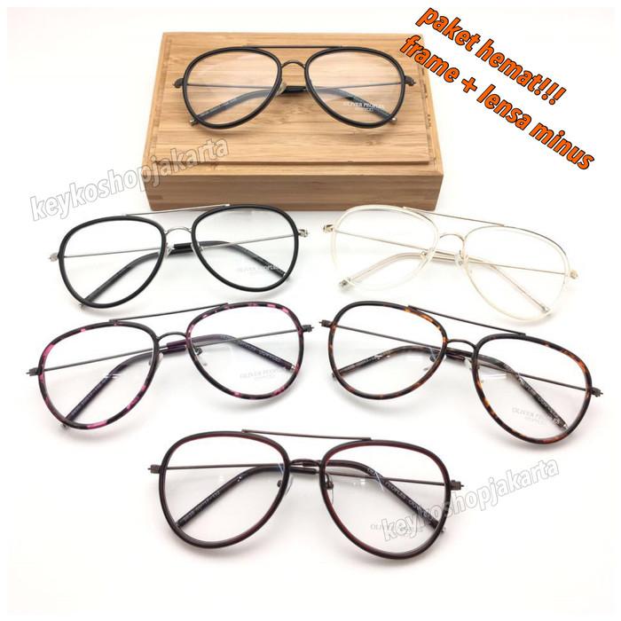 Jual FREE LENSA MINUS - frame kacamata pria wanita linda farrow ... ff85fcc46e