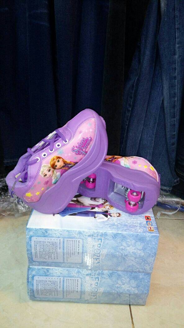 Jual Diskon roller shoes (sepatu roda anak roda 2) frozen warna ungu ... 055bdee0e6