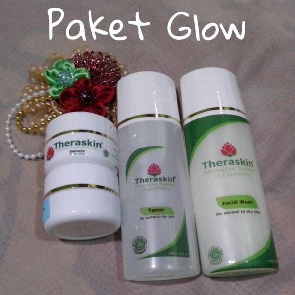 PAKET KRIM / CREAM THERASKIN WHITENING GLOW / PEMUTIH GLOWING