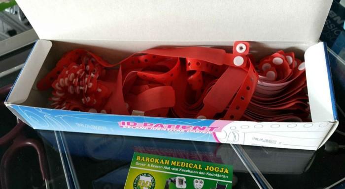 harga Gelang identitas pasien / gelang rumah sakit warna merah Tokopedia.com