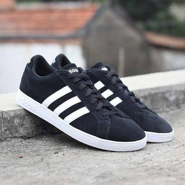 Jual Sepatu Adidas Neo Baseline Suede Black White Original - Sneaker ... 8a57603392