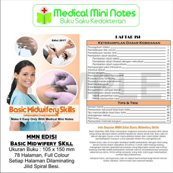 harga Medical mini notes basic midwifery skill Tokopedia.com
