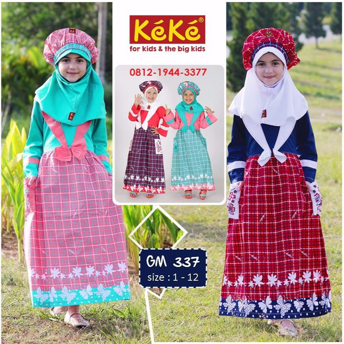 Jual Baju Gamis Anak Perempuan Keke Gm 337 Tosca Busana Muslim