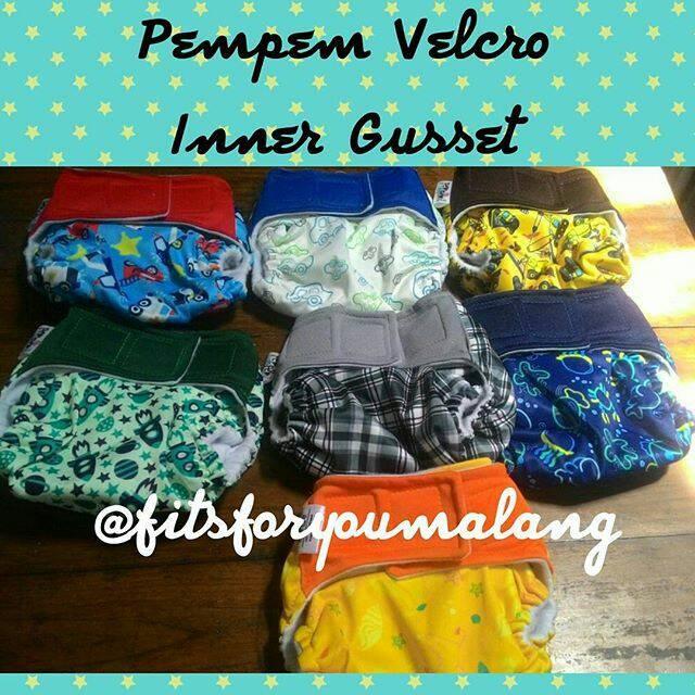 harga Pempem velcro inner gusset motif clodi cloth diaper popok kain Tokopedia.com