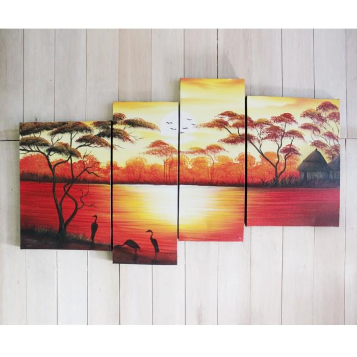 40+ lukisan pemandangan pantai di sore hari Terbaru