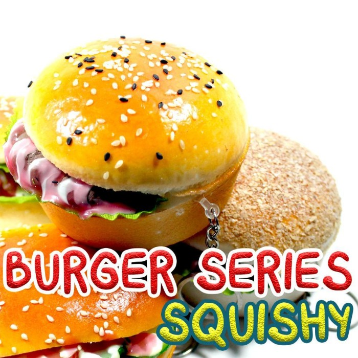 Big Squishy Burger Series Slow Rising - Murah-Wangi-Gantungan Kunci