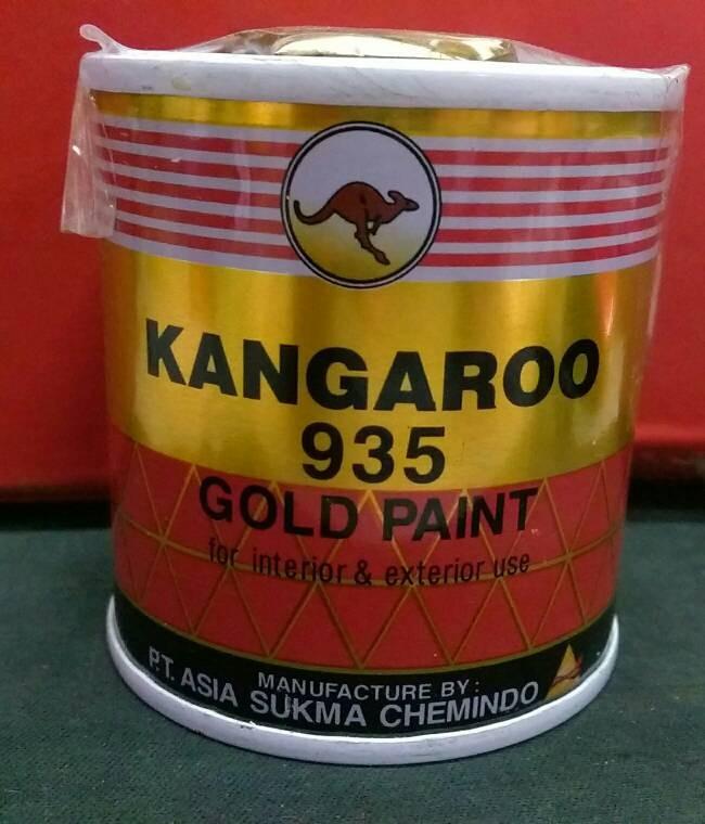 Foto Produk CAT WARNA EMAS KANGAROO GOLD 935 ( 100 ML ) / CAT MINYAK BESI KANGGURU dari TK BANGUNAN GUNUNG MADU
