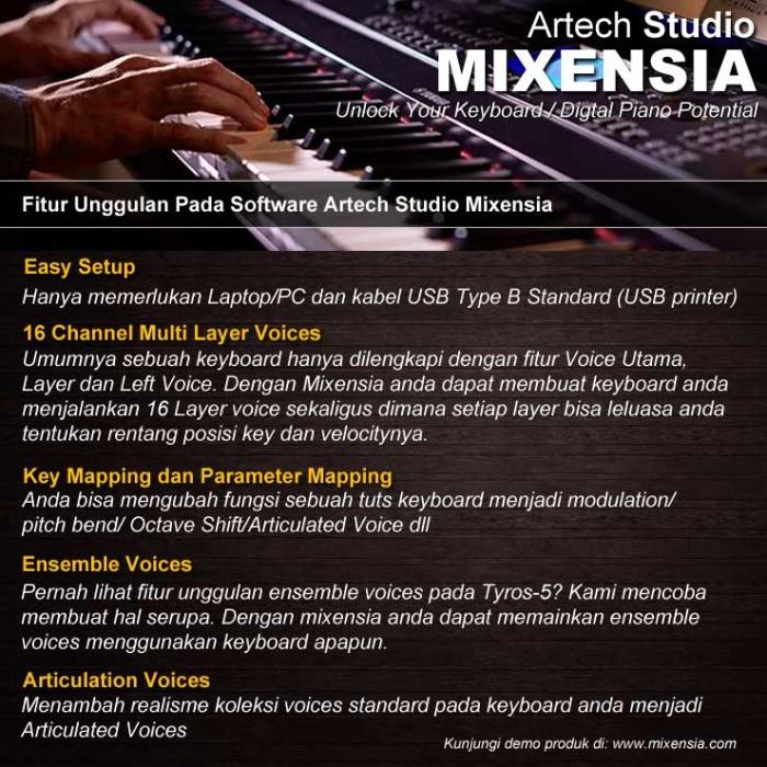 harga Software artech studio mixensia for keyboard / digital piano Tokopedia.com