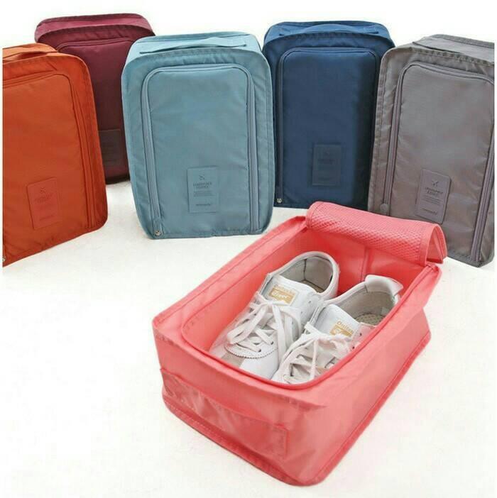 Korean Shoes Pouch, Travelling organizer, Tempat Sepatu, Tas Sepatu