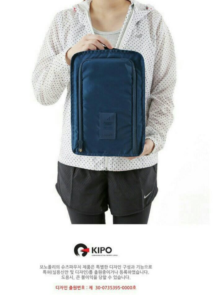 ... Korean Shoes Pouch, Travelling organizer, Tempat Sepatu, Tas Sepatu