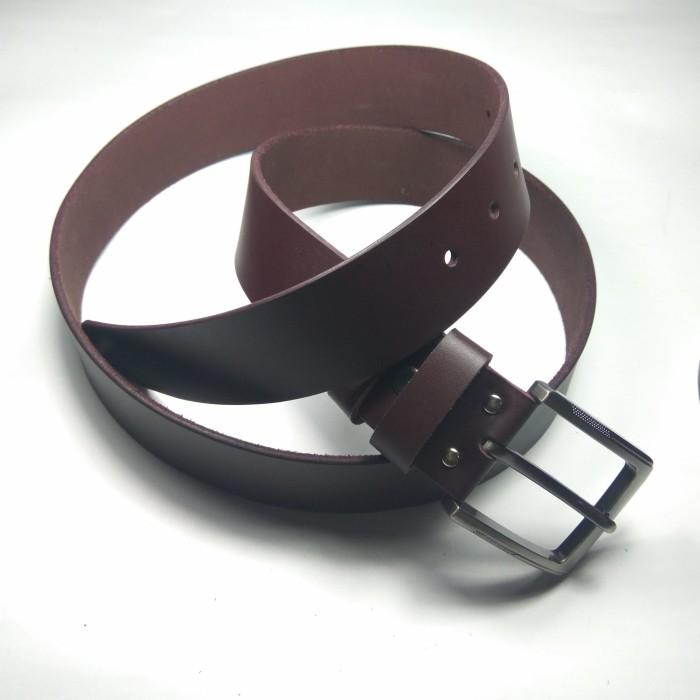 ... ikat pinggang pria kulit asli warna coklat gesper belt sabuk 002