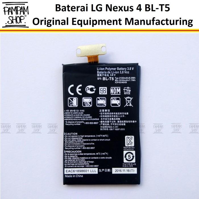 harga Baterai handphone lg nexus 4 e960 original oem bl-t5 blt5 | batre Tokopedia.com