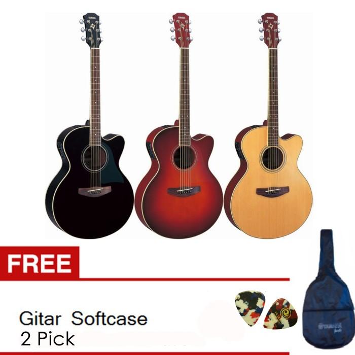 Yamaha Gitar Akustik Elektrik Apx 500ii Natural Gratis Softcase 2 Source CPX 500II
