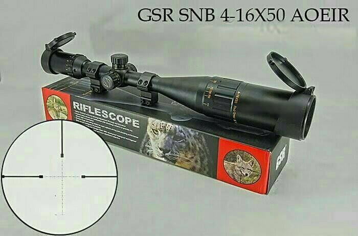 Jual rifelscope teleskop scope gsr gold snb 4 16x50 aoe ir kekeran 4