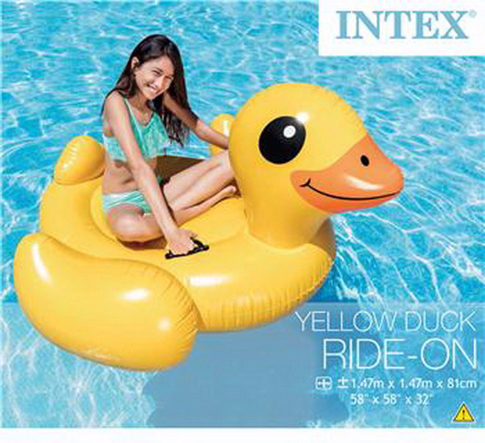 Intex pelampung renang yellow duck ride on