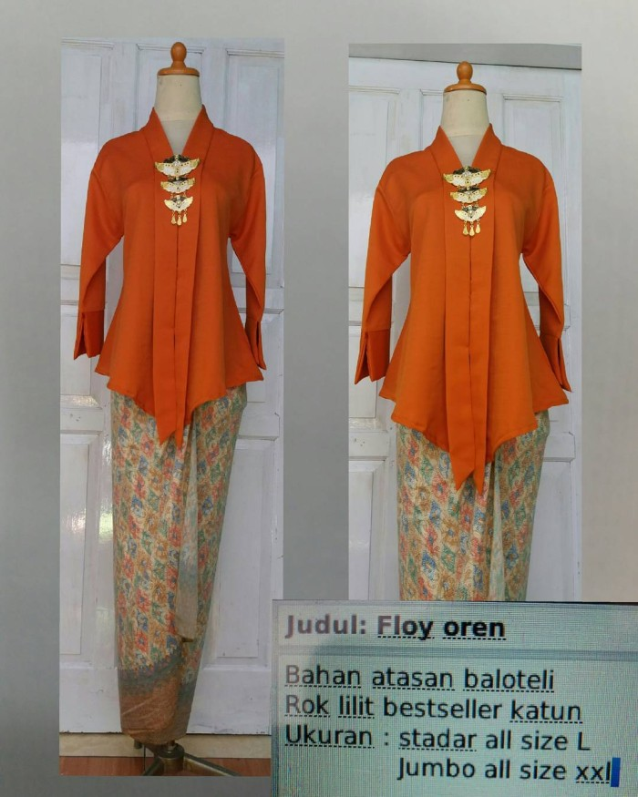 Jual Floy Orange Baju Kebaya Wisuda Baju Batik Wisuda Baju Pesta Cewe Dki Jakarta Khukha S Shop Tokopedia