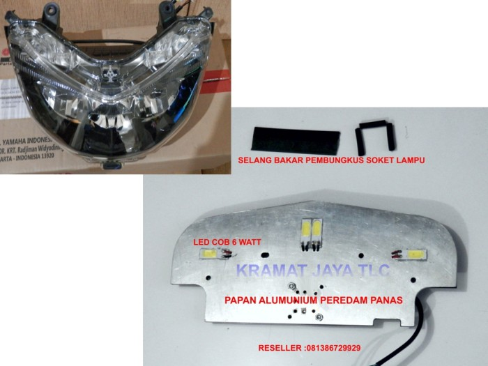 harga Reflektor Headlamp Ori Nmax Custom Led Cob 24 Watt Bergaransi Tokopedia.com