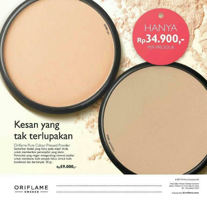 harga Pure colour pressed powder Tokopedia.com