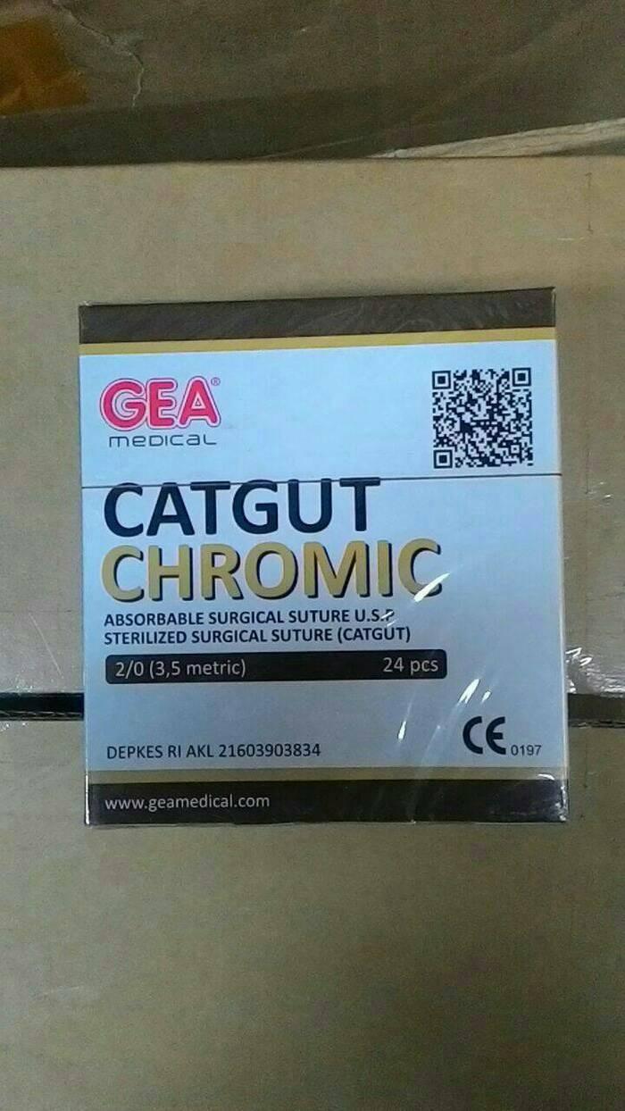 Foto Produk Catgut Chromic 2/0 GEA Plus Jarum dari AGNES MEDIKA