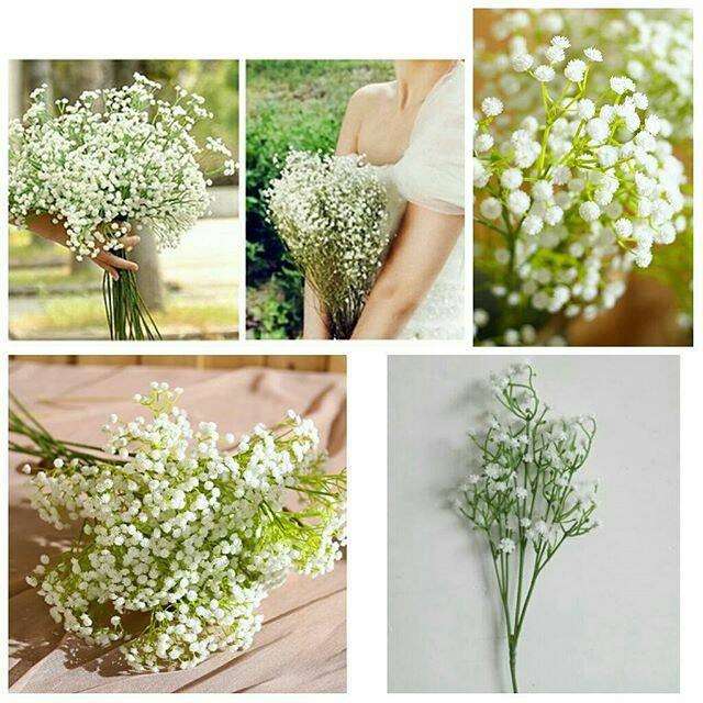 harga Baby breath bunga palsu artificial flower hiasan taman wedding Tokopedia.com
