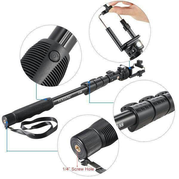 harga Tongsis yunteng yt-1188 for go pro/camera/kamera/dslr/pocket/monopod Tokopedia.com