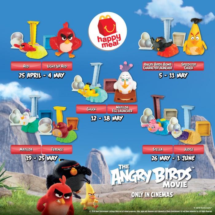 Jual Happy Meal Mcd The Angry Birds Movie 2016 Kota Banjarmasin Fast Food Collectibles Tokopedia