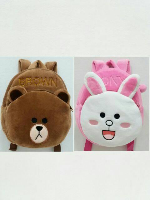 Tas ransel / punggung / backpack boneka anak karakter brown cony