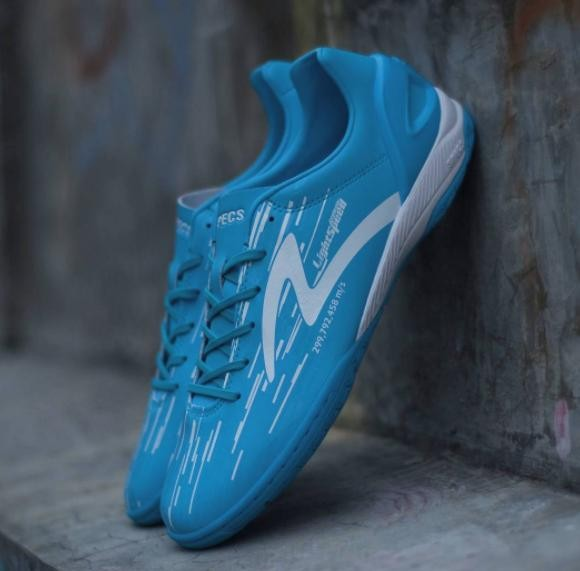 Sepatu Futsal Specs Accelerator Lightspeed IN Blue White Original 100% abb063b831ef2