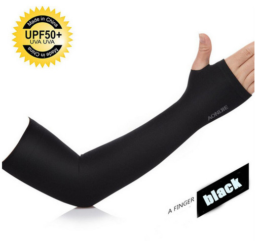 Foto Produk AONIJIE - ARM SLEEVES - sunscreen cuff - BLACK dari HANGERMEDAL DOT COM
