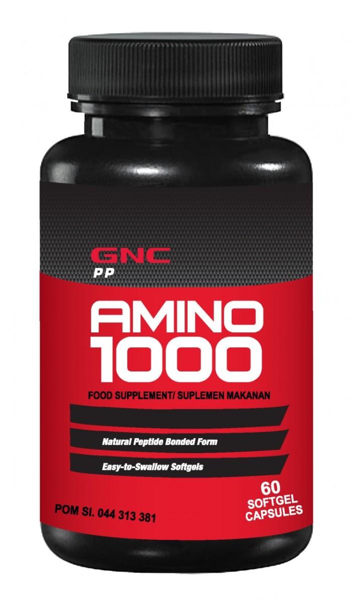 GNC PP Natural Amino 1000 - 60 kapsul lunak
