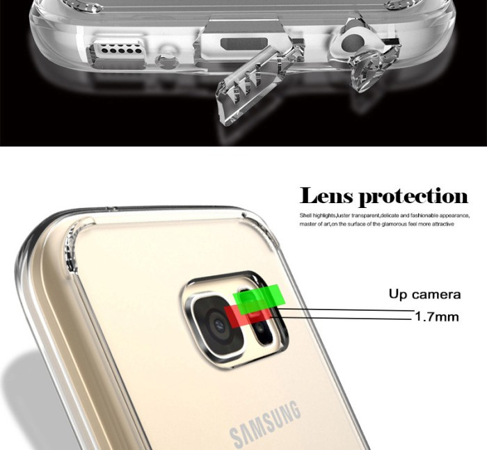 Jual Casing Hp Transparan Samsung Galaxy S7 Case Clear Silicone