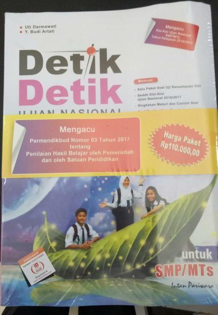 Jual Buku Detik Detik Ujian Nasional Smp 2017 Pt Intan Pariwara Jakarta Pusat Kategori Namanya Tokopedia