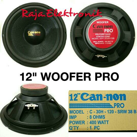 harga Speaker woofer 12  cannon pro 400w speker canon woofer 12 inch can-non Tokopedia.com