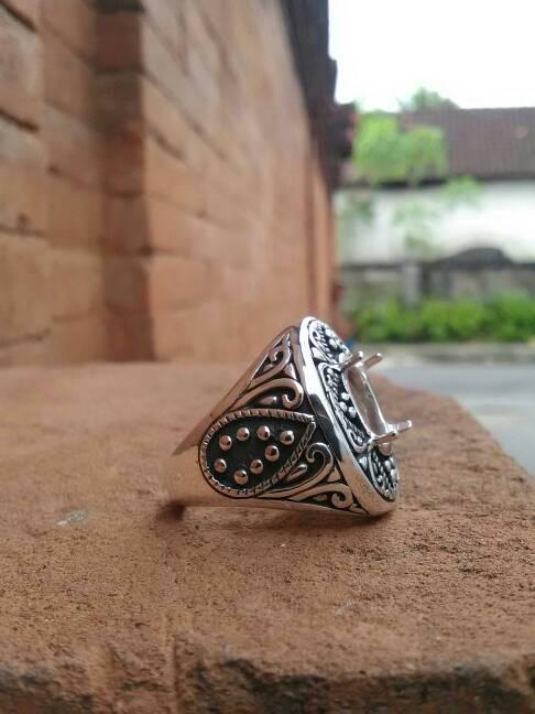harga Emban cincin perak handmade model cakar motif full ukir klasik mewah Tokopedia.com