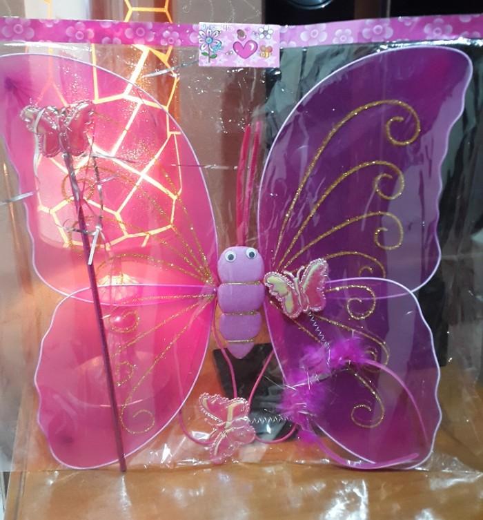 harga Kostum mainan anak peri sayap kupu kupu bando tongkat angel karnaval Tokopedia.com