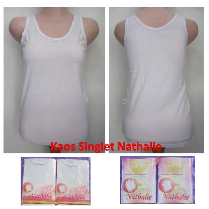 Foto Produk Kaos Dalam Cewek / Singlet Anak Wanita Nathalie - M, Putih dari Chic Mama
