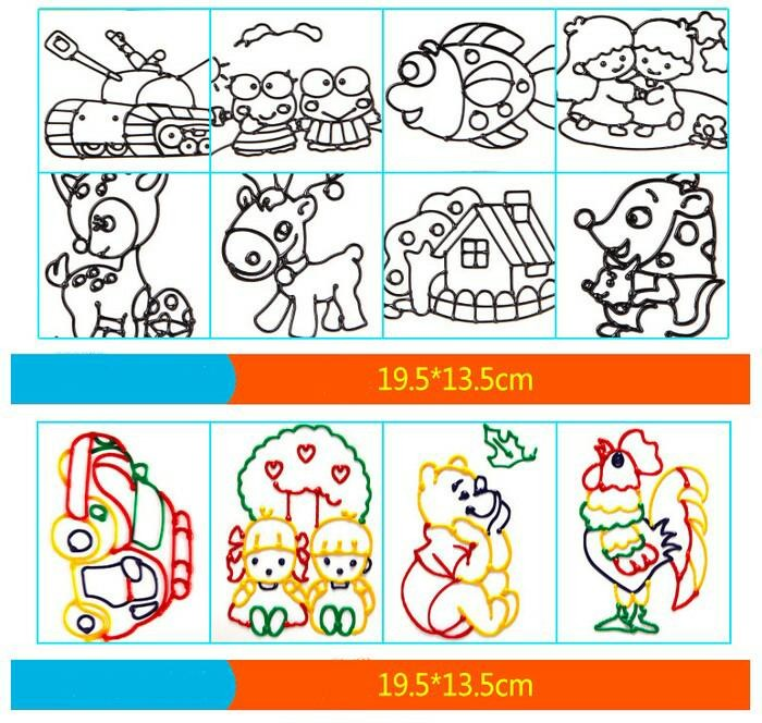 Jual Mainan Anak Mewarnai Gambar 3d Isi 10 Set Gambar 10 Set Dki