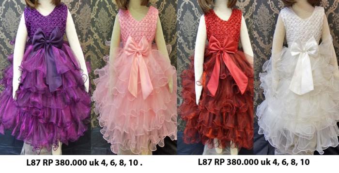 bc9bfb2c508 Jual gaun pesta anak mewah / dress pesta anak marun umur 4 6 8 10 ...