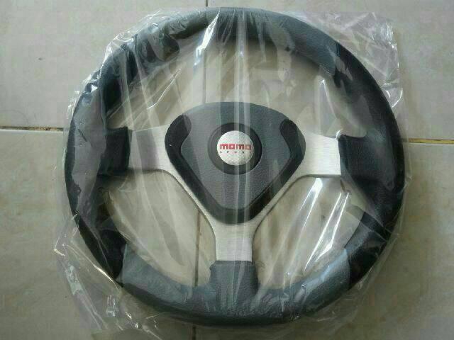 harga Steer/stir racing momo evo/datar 14 inch universal abu hitam Tokopedia.com