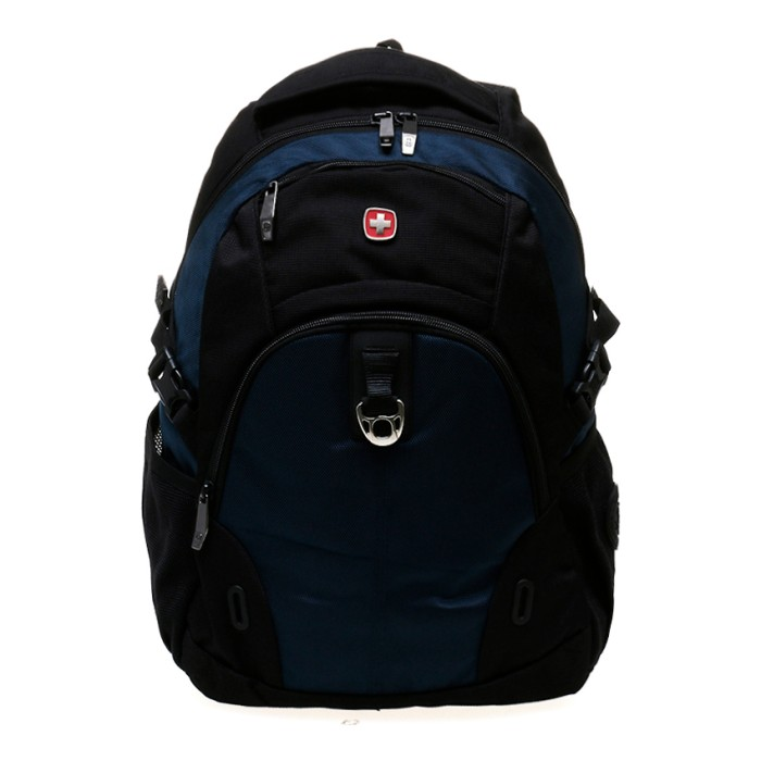 Swiss gear sa8017 - tas laptop backpack - hitam biru 37ac867c0b