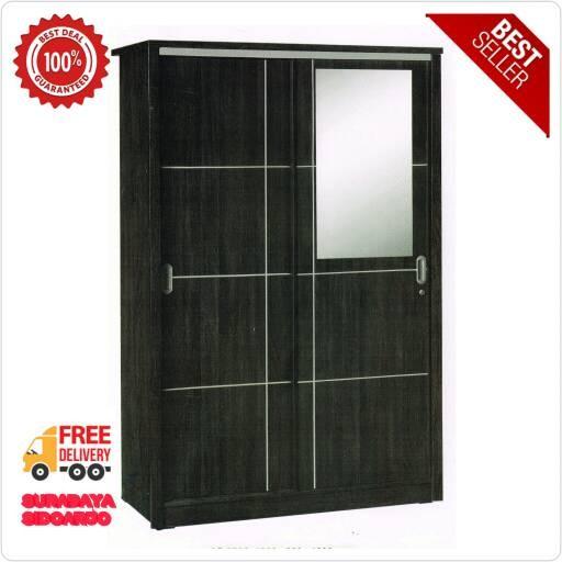 harga Best seller!!! lemari pakaian 2 pintu sliding cermin Tokopedia.com
